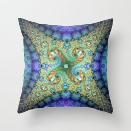 Never ending patterns with spirals and orbs Throw Pillow
