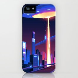 Synthwave Neon City #18 iPhone Case