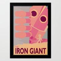 iron giant Art Prints featuring The Iron Giant by Yoash