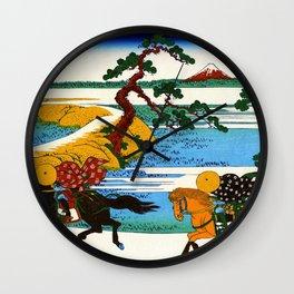 Mt,FUJI36view-Sumidagawa Sekiya village - Katsushika Hokusai Wall Clock
