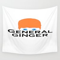 general Wall Tapestries featuring General Ginger by General Ginger