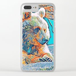 AnimalMix_Bear_001_by_JAMColors Clear iPhone Case