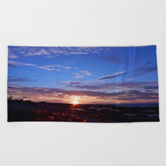 Sunset and Blue Sky Beach Towel