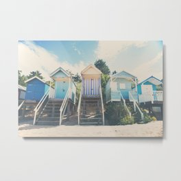 beach huts photograph Metal Print