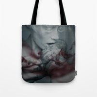 the cure Tote Bags featuring Cure by Imustbedead