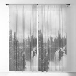 Athabasca Falls Sheer Curtain
