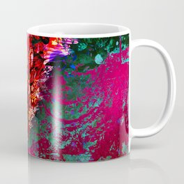 359 15 Abstract Pink Cattails Coffee Mug
