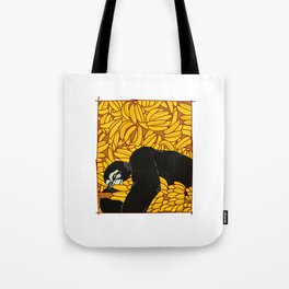 Gorilla Banana Dear animal silverback gift Tote Bag