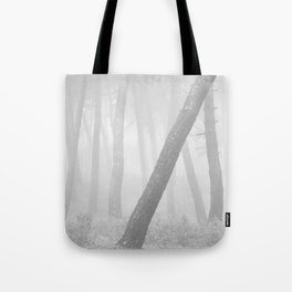 Inclined... Into the foggy woods Tote Bag