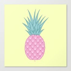 Pink pastel pineapple Canvas Print