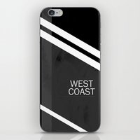 west coast iPhone & iPod Skins featuring WEST COAST. by Ruben A. Alonso
