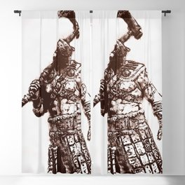 Medieval Warrior Blackout Curtain