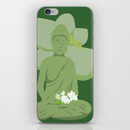 Green Buddha iPhone Skin