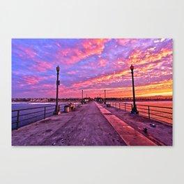Sunrise Huntington Beach Pier   11/12/13 Canvas Print