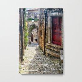 Street in Sermoneta Metal Print