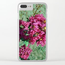 Crepe Myrtle 2 Clear iPhone Case