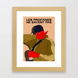 profan don't know Framed Art Print