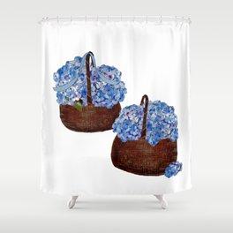 Two Baskets of Hydrangea Love Shower Curtain