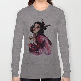 Geisha Girl // Fashion Illustration Long Sleeve T-shirt