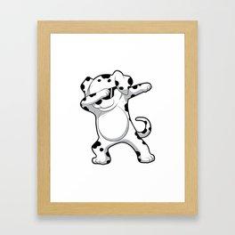 Dabbing Dalmatian T Shirt Funny Dab Dog Framed Art Print