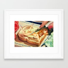 Leg Spread Framed Art Print