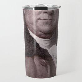 Vintage Benjamin Franklin Portrait Travel Mug