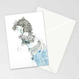 Water woman Stationery Cards