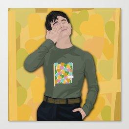 Connor Franta Hearts Canvas Print