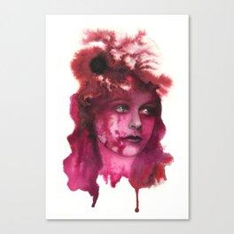 Blood Lady #1 Canvas Print