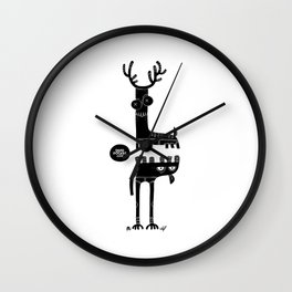 Two Beasts Wall Clock
