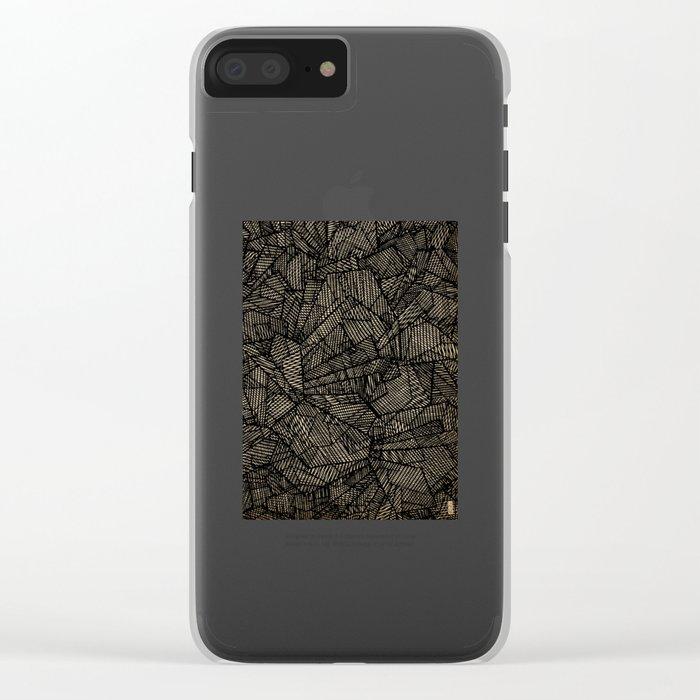 - étoile noire [blackstar] - Clear iPhone Case