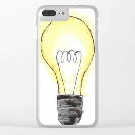 Lightbulb in Color Clear iPhone Case