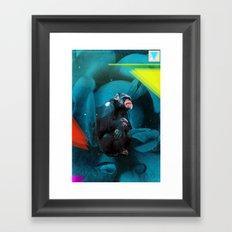 Space Chimp Framed Art Print