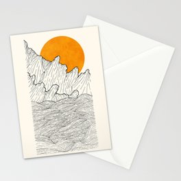 The great sun over the sea cliffs Stationery Cards