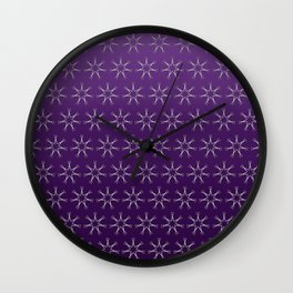 Scissors Star ( purple ombre) Wall Clock