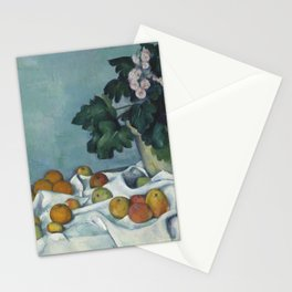 Still Life with Apples and a Pot of Primroses Stationery Cards
