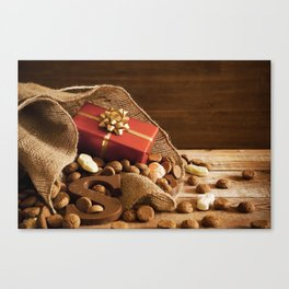 II - Bag with treats, for traditional Dutch holiday 'Sinterklaas' Canvas Print