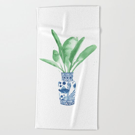 Ginger Jar + Bird of Paradise Beach Towel