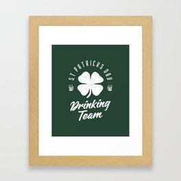 St. Patrick's Day Drinking Team Framed Art Print