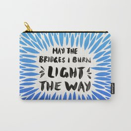Bridges Burned – Blue Ombré Carry-All Pouch
