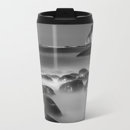 Exposed Bowling Ball Beach Northern California Travel Mug