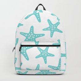 Sweet Starfish Pattern 235 Aqua Backpack