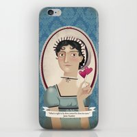 jane austen iPhone & iPod Skins featuring Jane Austen said... by Mrs Peggotty
