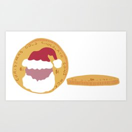 Christmas Sweeties Gold Foil Wrapped Chocolate Money Coins Art Print