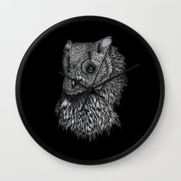Forsythe in Black Wall Clock