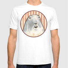 Animal. White Mens Fitted Tee MEDIUM