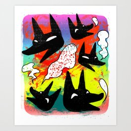 Whimsical Wolfes Art Print