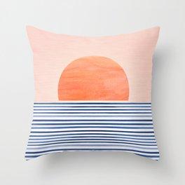 Summer Sunrise - Minimal Abstract Throw Pillow