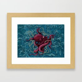 Octopus colored Framed Art Print
