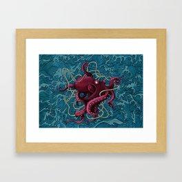 Octopus colored Framed Art Print